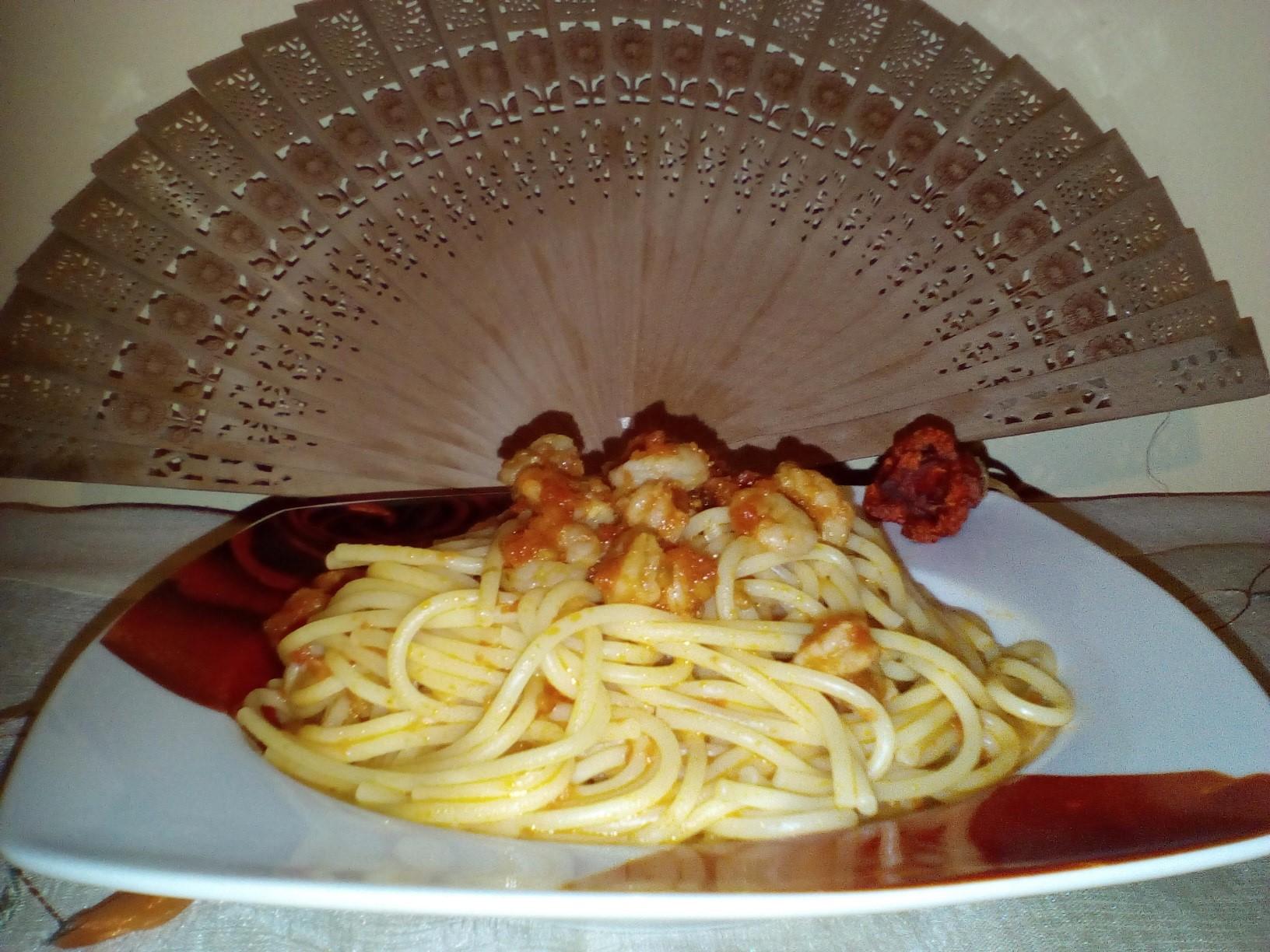 Γαριδομακαρονάδα Shrimp Spaghetti