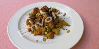 Κoτόπουλο Ιντιέν με κάρυ, φρούτα κα ξηρούς καρπούς
