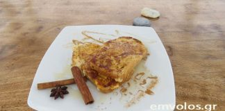 Αυγόφετες γλυκές με μέλι και κανέλα