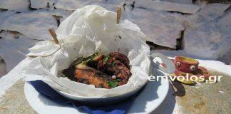 Χταπόδι στον φούρνο «κλεισμένο» σε λαδόκολλα