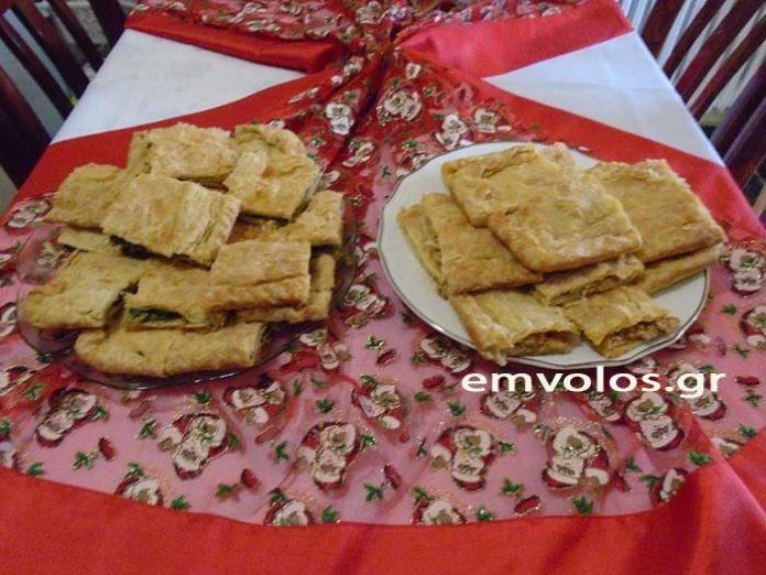 Πίτα με σπανάκι και πίτα με πράσο κιμά