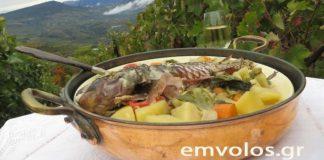 Σκάρος φουρνιστός με λαχανικά και μοσχοφίλερo ή πέρκα, βακαλάο και ότι άλλο ψάρι βρείτε