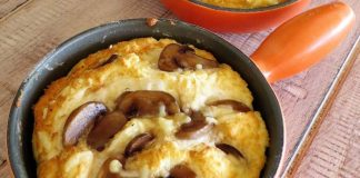 Σουφλέ τυριών με μανιτάρια και κρεμμυδάκι - Αγαπησιάρικη νόστιμη γεύση