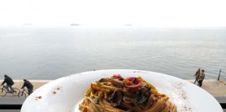 Ταλιολίνι με λαχανικά και κρέμα γραβιέρας