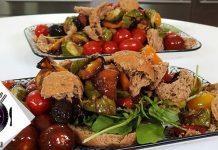 Καλοκαιρινή σαλάτα με ψητά λαχανικά