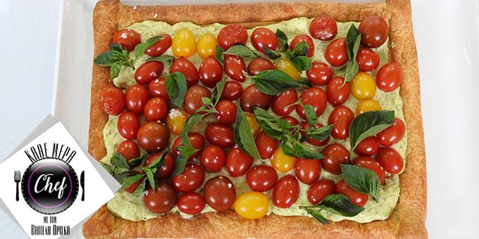 Τάρτα με ντοματίνια και μοτσαρέλα