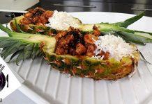 Καραμελωμένο κοτόπουλο με ανανά