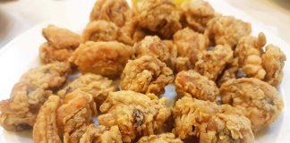 Φρέσκα μύδια τηγανητά με κουρκούτι ούζου