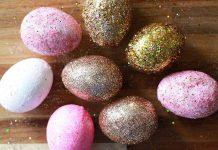 Πασχαλινά αβγά με γκλίτερ