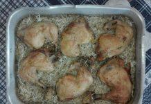 Κοτόπουλο βουνίσιο φουρνιστό με ρύζι