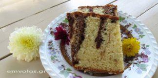 Κέικ με βανίλια και κακάο