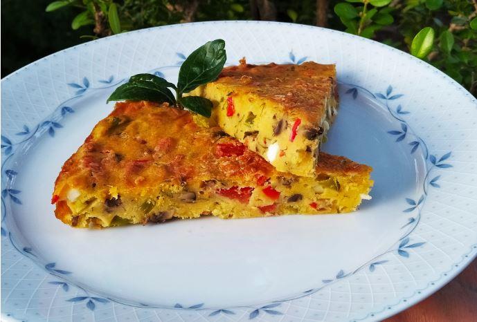 Πίτα καλαμποκιού με κατσικίσιο τυρί